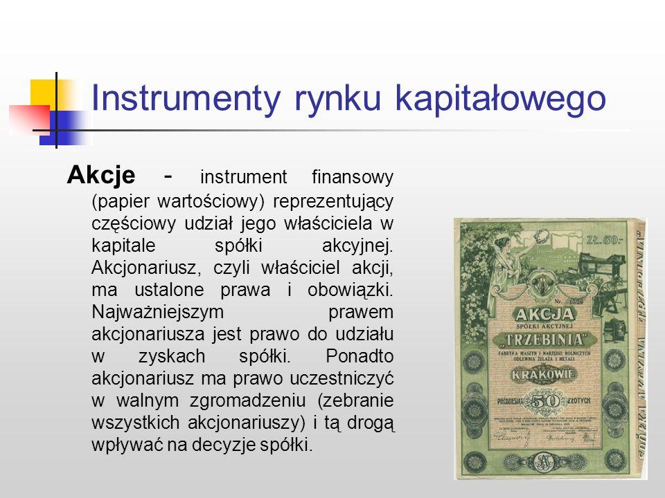 Rynek kapitałowy tradycyjnie rozumiany… Rynek kapitałowy w tradycyjnym rozumieniu utożsamiany jest z rynkiem papierów wartościowych. Papier wartościow