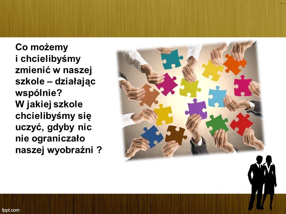 Co możemy i chcielibyśmy zmienić w naszej szkole – działając wspólnie? W jakiej szkole chcielibyśmy się uczyć, gdyby nic nie ograniczało naszej wyobra