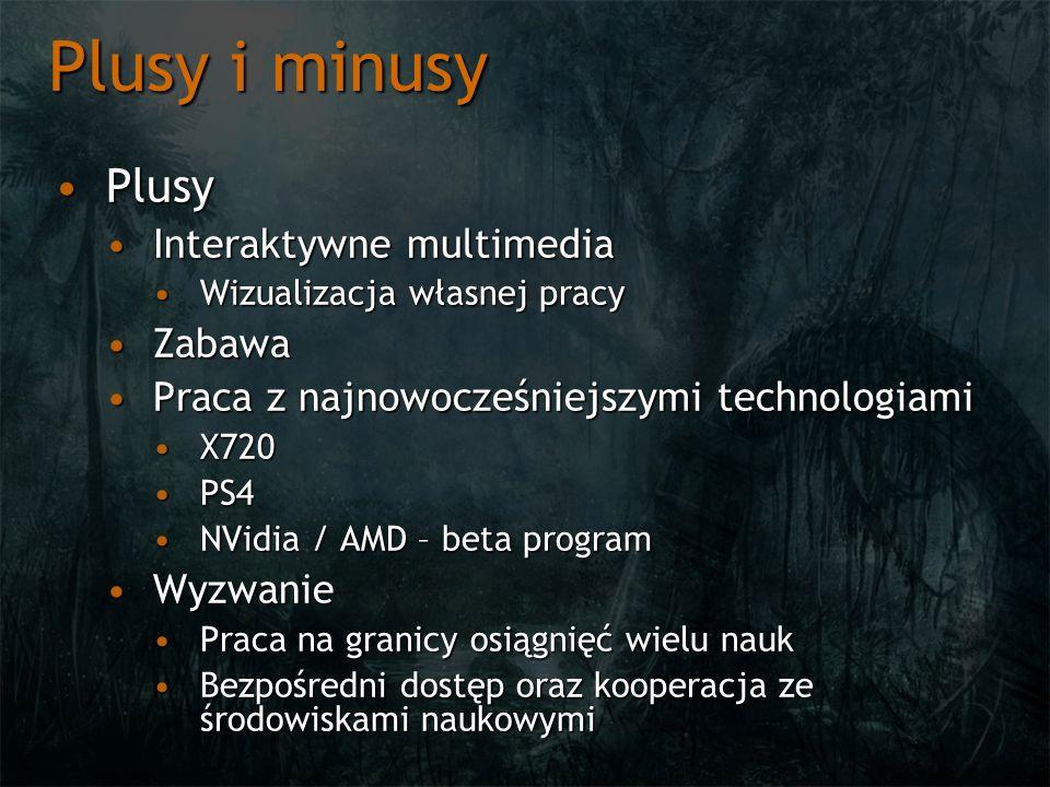 Plusy i minusy PlusyPlusy Interaktywne multimediaInteraktywne multimedia Wizualizacja własnej pracyWizualizacja własnej pracy ZabawaZabawa Praca z naj