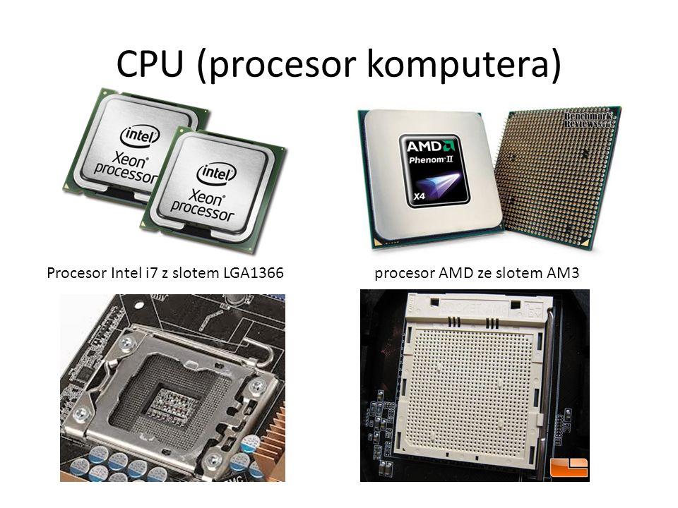 CPU (procesor komputera) Procesor Intel i7 z slotem LGA1366 procesor AMD ze slotem AM3