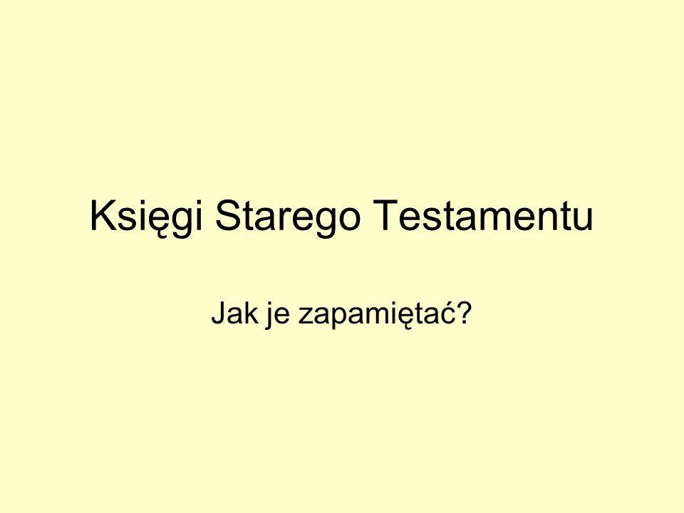 Księgi Starego Testamentu Jak je zapamiętać?