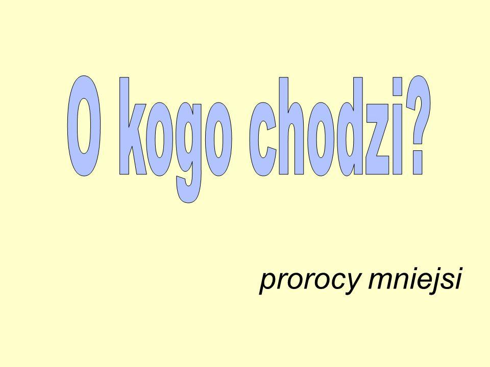 prorocy mniejsi