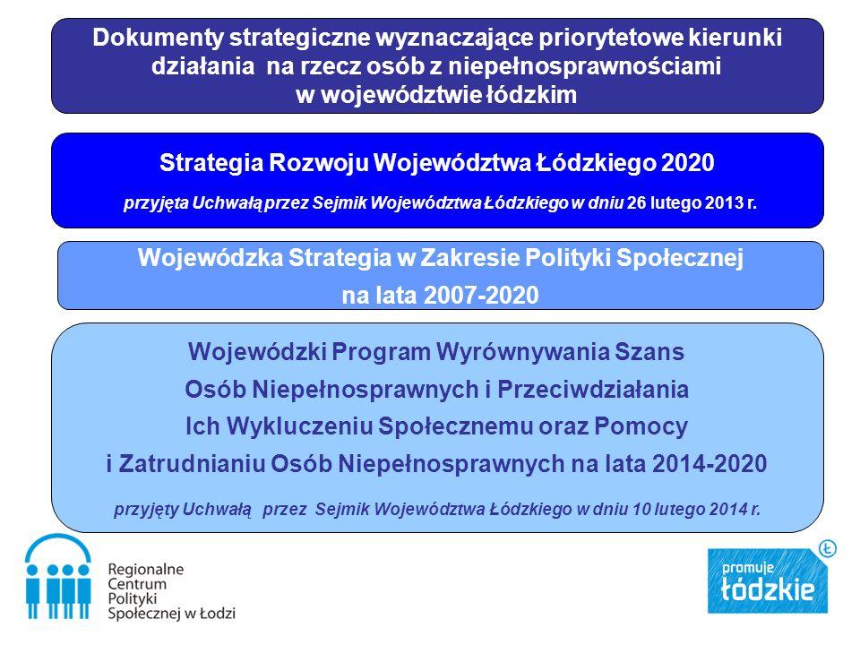 Strategia Rozwoju Województwa Łódzkiego 2020 przyjęta Uchwałą przez Sejmik Województwa Łódzkiego w dniu 26 lutego 2013 r. Wojewódzka Strategia w Zakre