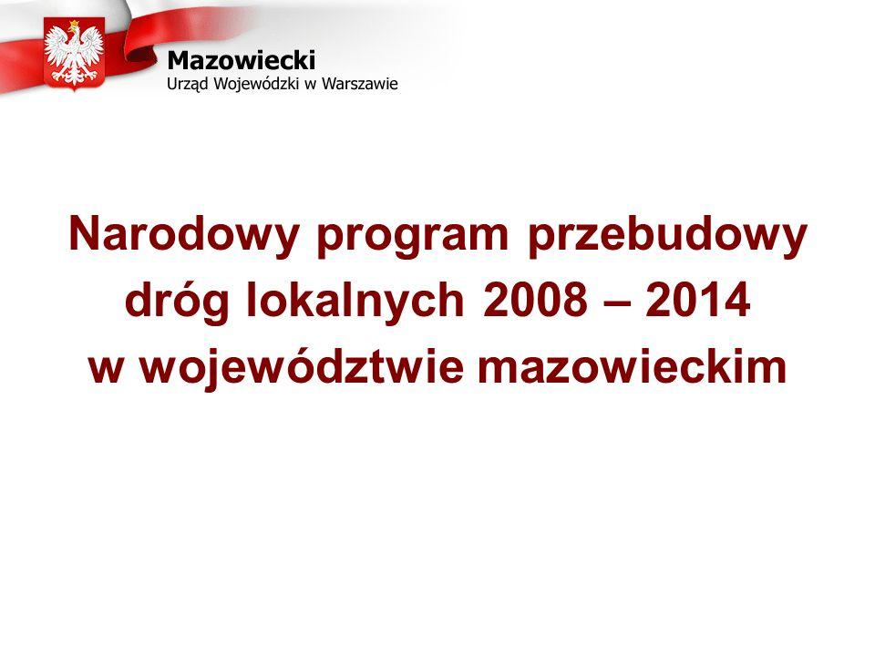 Narodowy program przebudowy dróg lokalnych 2008 – 2014 w województwie mazowieckim