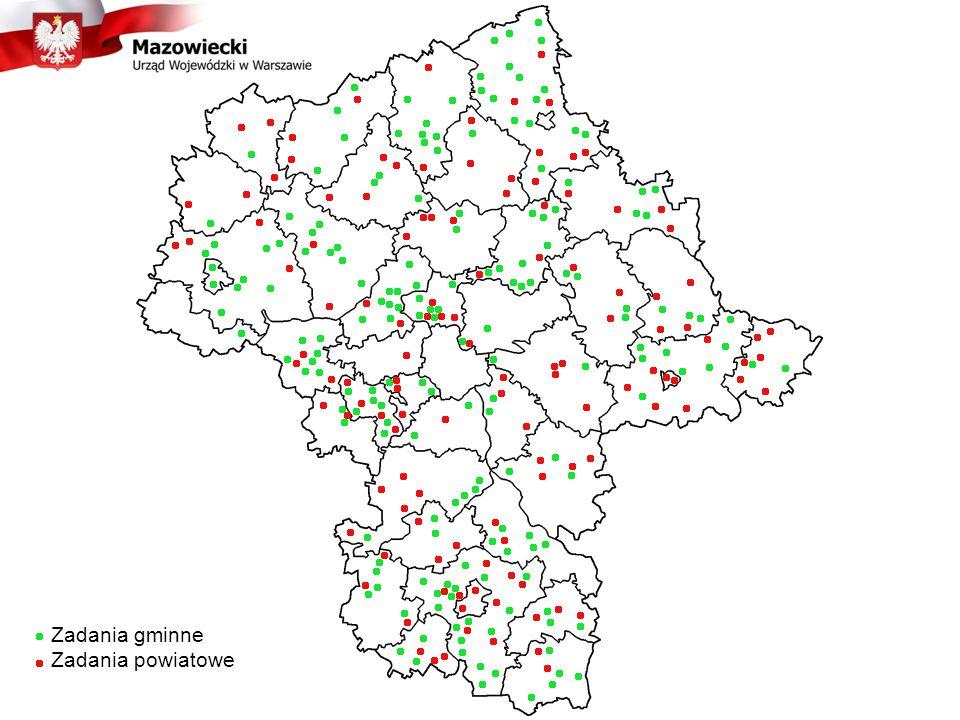 Zadania gminne Zadania powiatowe