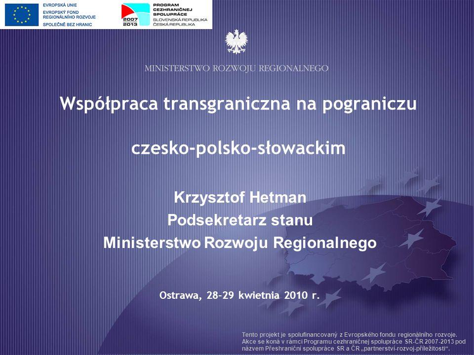 Obszar wsparcia Program Polska – Słowacja obszar wsparcia – 38 tys.