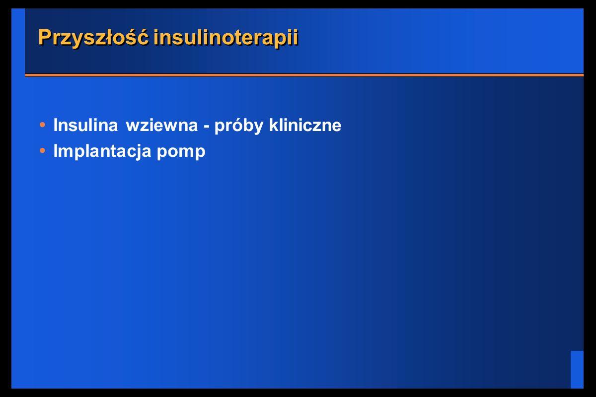 Przyszłość insulinoterapii Insulina wziewna - próby kliniczne Implantacja pomp