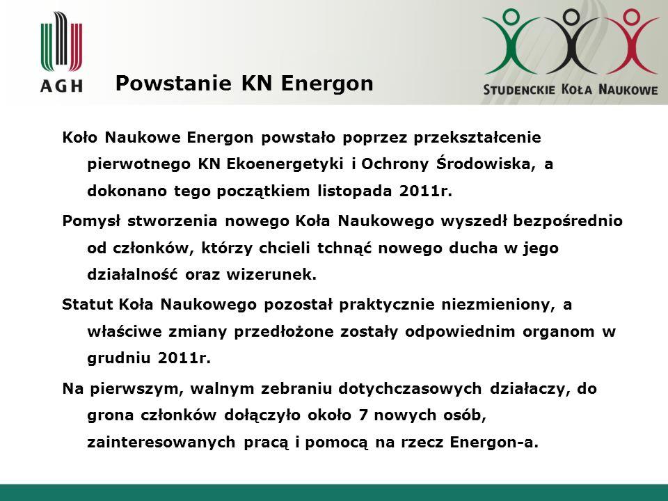 Skład osobowy KN EnergON.w roku 2013 LISTA CZŁONKÓW KN ENERGON.