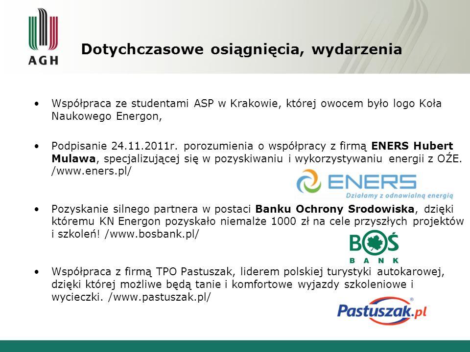 Dotychczasowe osiągnięcia, wydarzenia Dzięki dofinansowaniu uzyskanemu od Polskiej Geotermalnej Asocjacji im.