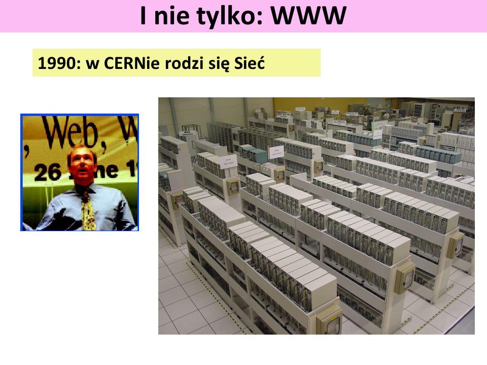 1990: w CERNie rodzi się Sieć I nie tylko: WWW