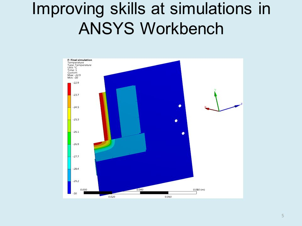 Improving skills at simulations in ANSYS Workbench 5