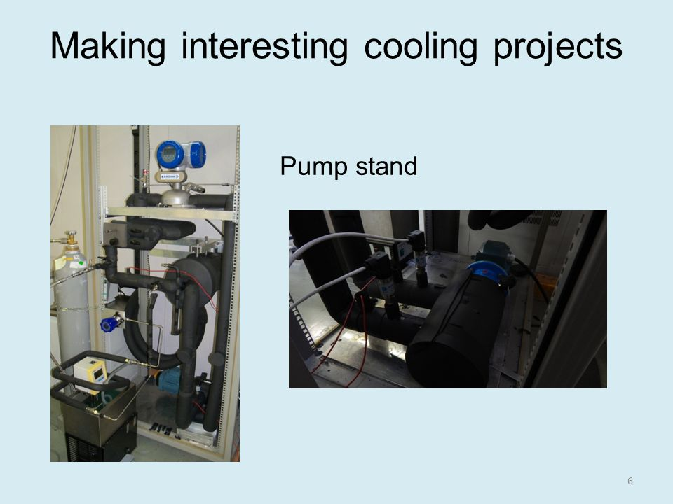 Making interesting cooling projects Pump stand 6