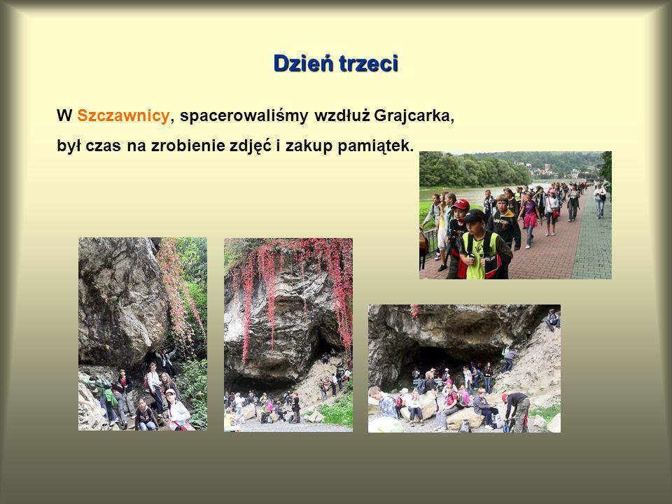 Dzień trzeci W Szczawnicy, spacerowaliśmy wzdłuż Grajcarka, był czas na zrobienie zdjęć i zakup pamiątek.