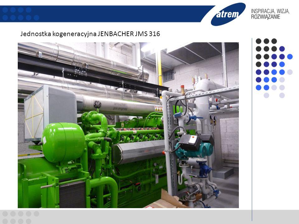 moc elektryczna 836 kWe, moc cieplna 1 040, parametr 70/90 oC