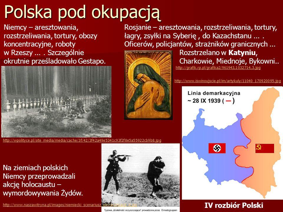 Polska pod okupacją Niemcy – aresztowania, rozstrzeliwania, tortury, obozy koncentracyjne, roboty w Rzeszy.... Szczególnie okrutnie prześladowało Gest