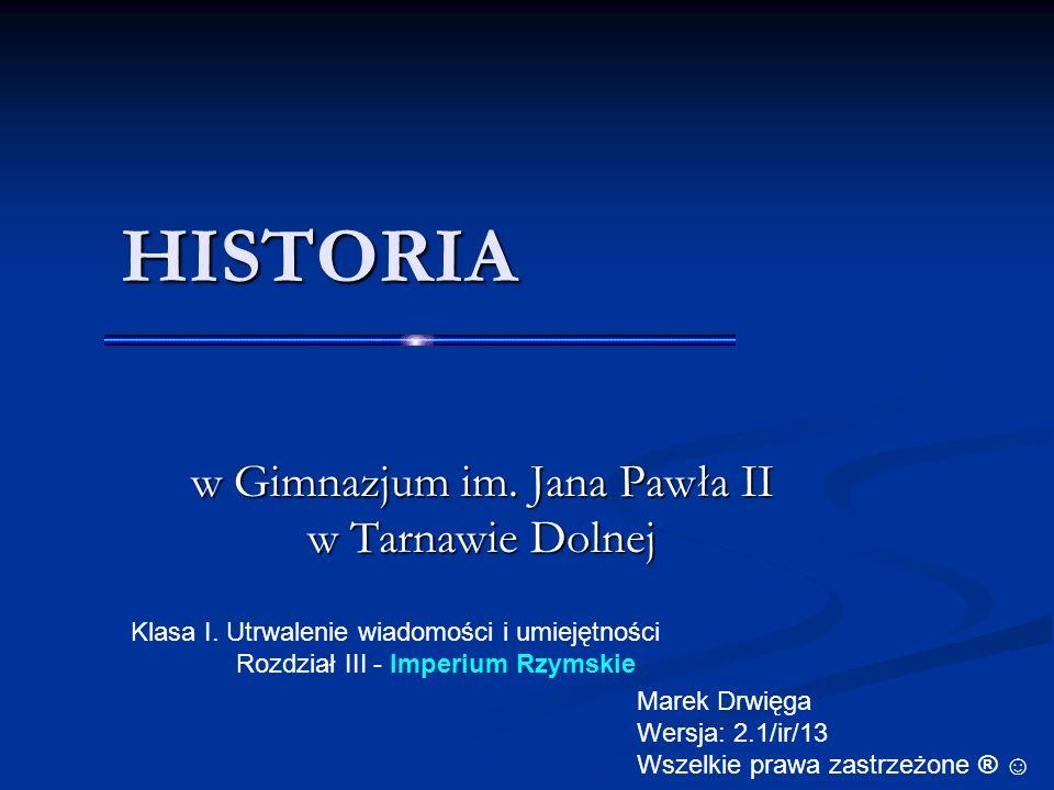 HISTORIA w Gimnazjum im.