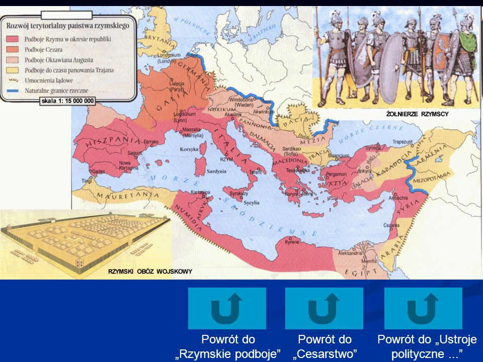 Powrót do Ustroje polityczne... Powrót do Cesarstwo Powrót do Rzymskie podboje