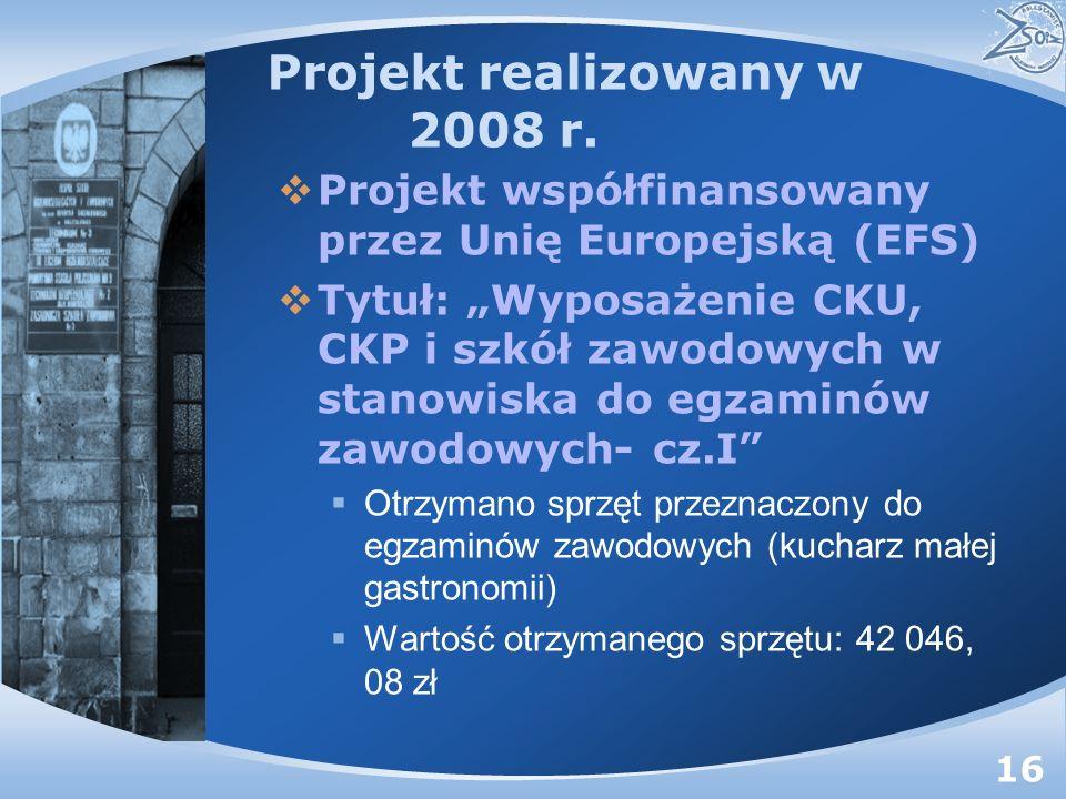 Projekt realizowany w 2008 r.
