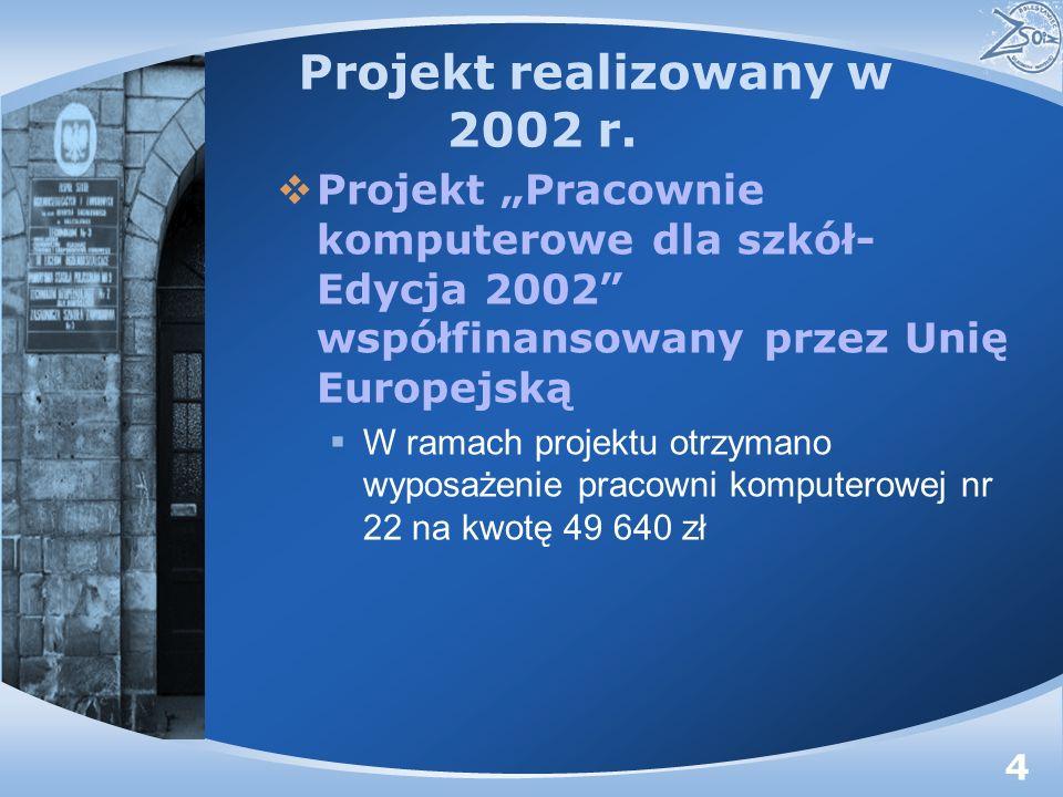 Projekt realizowany w 2002 r.