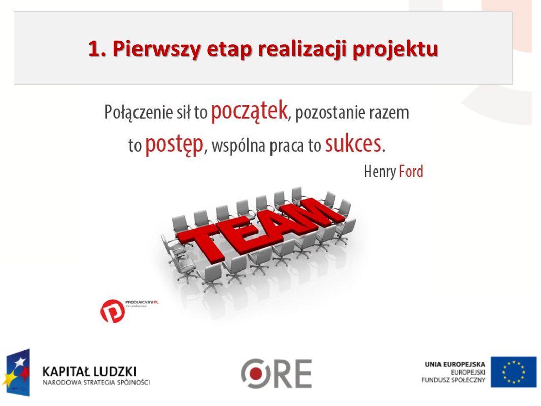1. Pierwszy etap realizacji projektu