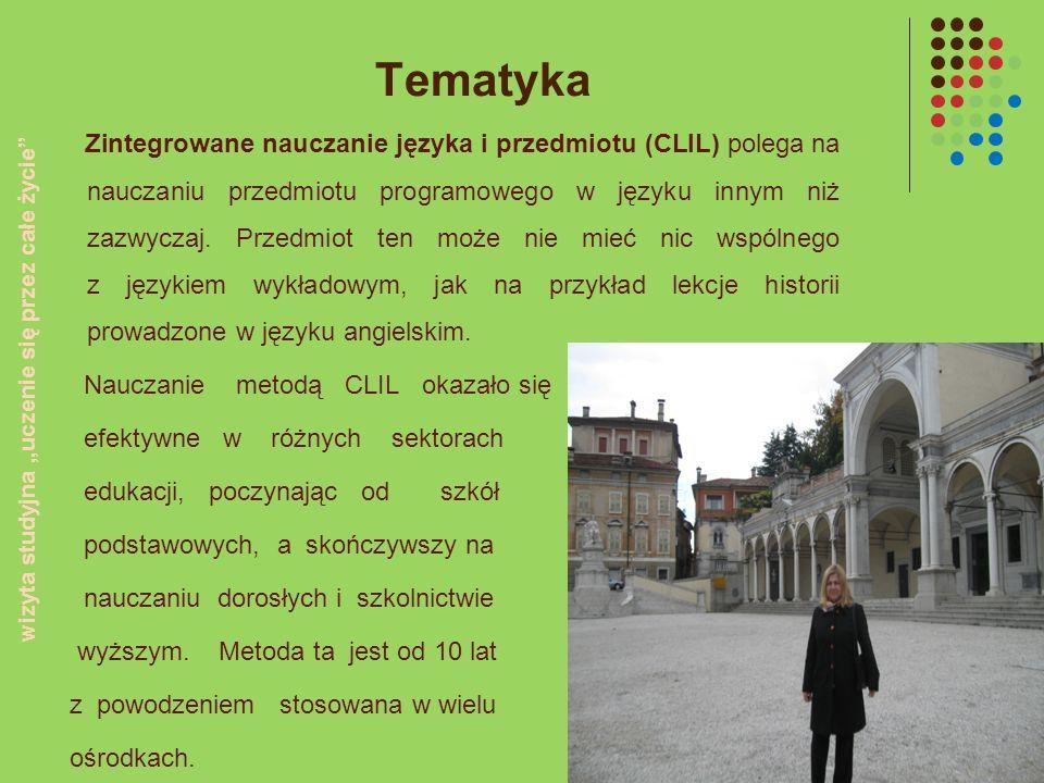 Tematyka Zintegrowane nauczanie języka i przedmiotu (CLIL) polega na nauczaniu przedmiotu programowego w języku innym niż zazwyczaj. Przedmiot ten moż
