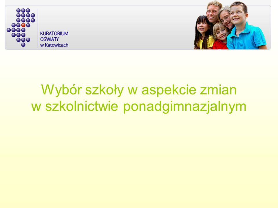 Materiały i informacje wykorzystane w prezentacji: -Kuratorium Oświaty w Katowicach -Mobilne Centrum informacji Zawodowej -Wojewódzki Urząd Pracy (filia w Bielsku – Białej)
