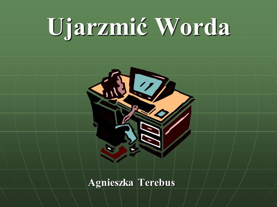 Ćwiczenie 1 Polecenie: Uruchom Ms Word i zakończ pracę z edytorem tekstu.