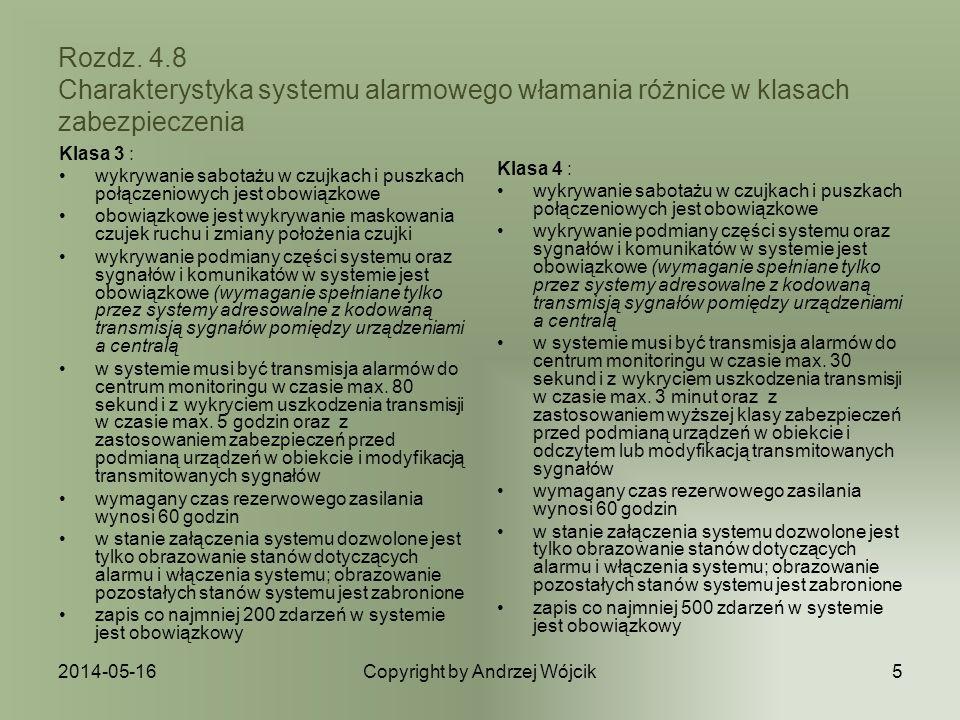 2014-05-16Copyright by Andrzej Wójcik6 Rozdz.4.9 Klasy środowiska Klasyfikacja środowiskowa tj.