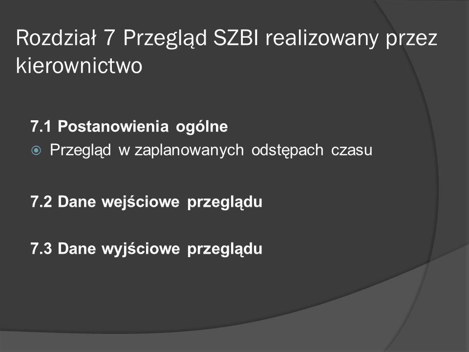 Rozdział 8 Doskonalenie SZBI 8.1 Ciągłe doskonalenie 8.2 Działania korygujące 8.3 Działania zapobiegawcze
