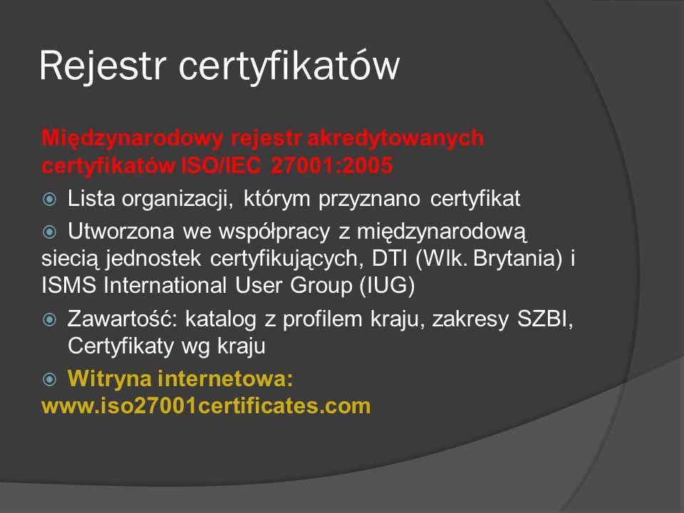 Zakres certyfikacji (przykładowy) Przykład 1 Zarządzanie bezpieczeństwem informacji działalności gospodarczej obejmującej doradztwo w dziedzinie bezpieczeństwa i dostarczanie programów narzędziowych służących do zapewnienia bezpieczeństwa.