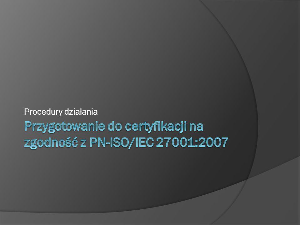 Model Systemu Zarządzania Bezpieczeństwem Informacji (SZBI) zgodnie z PN-ISO/IEC 27001 1.