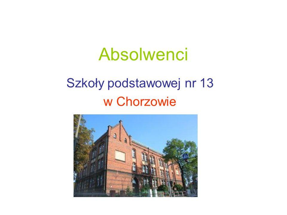 Absolwenci Szkoły podstawowej nr 13 w Chorzowie