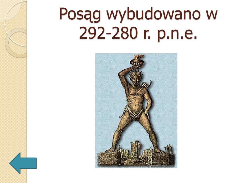 Posąg wybudowano w 292-280 r. p.n.e.