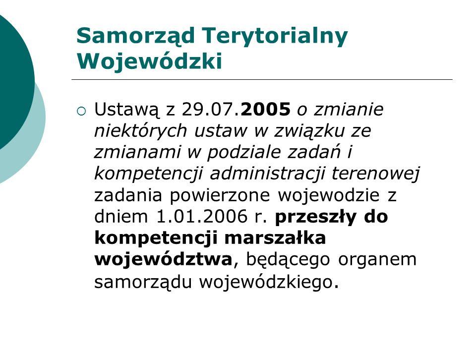 Zadania Marszałka Województwa Ustawa z 29 sierpnia 1997 r.