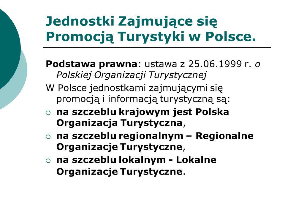 Polska Organizacja Turystyczna Podstawa prawna: Ustawa z 25.06.1999 r.