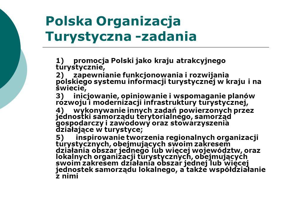 Polska Organizacja Turystyczna Dla realizacji powierzonych zadań, POT współpracuje w szczególności z: 1.