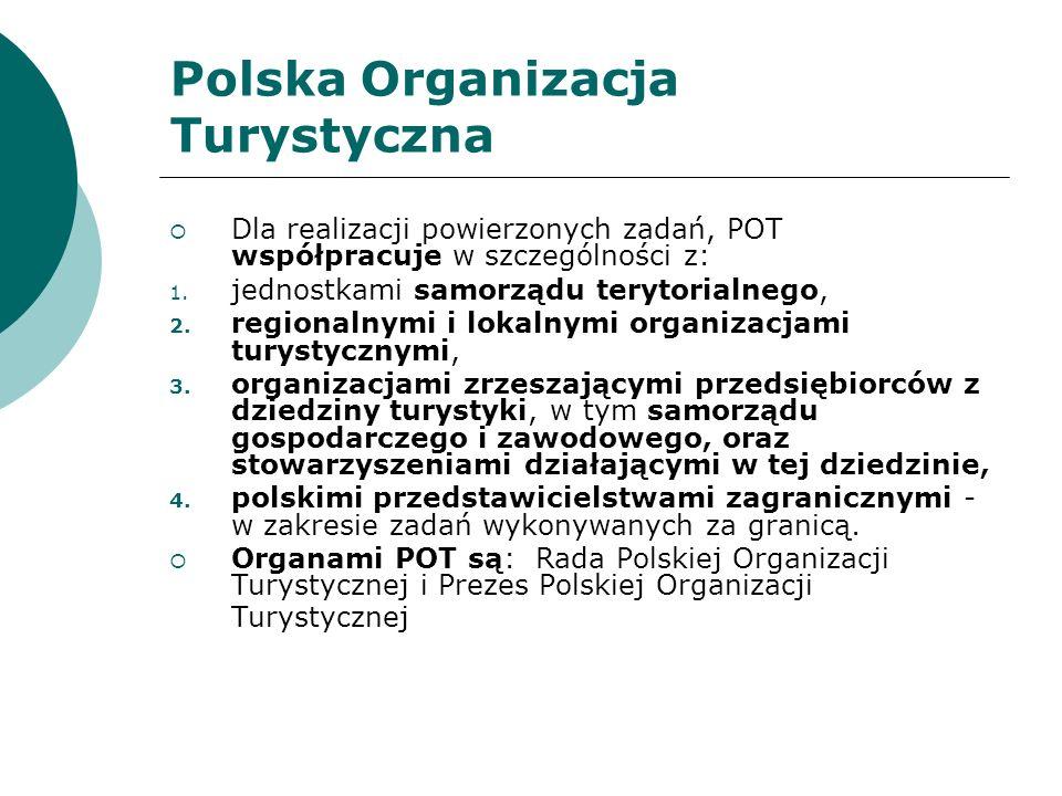 Polska Organizacja Turystyczna - Przychody 1.dotacje budżetowe, 2.