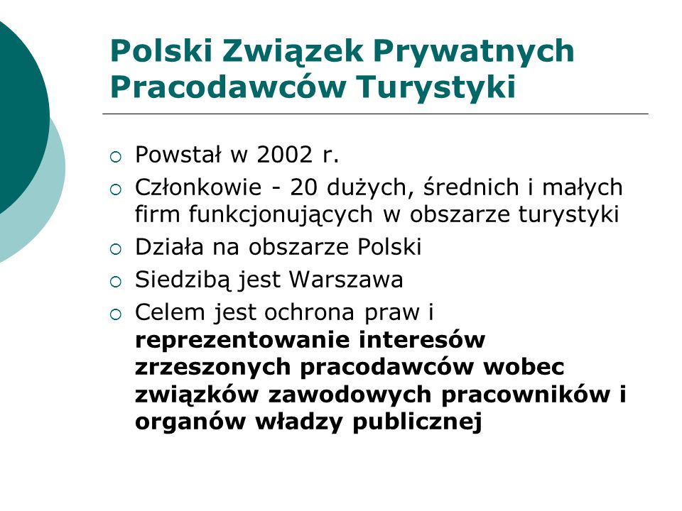Niekomercyjne Organizacje Turystyczne Podstawa prawna: ustawa z 7.04.1989 r.