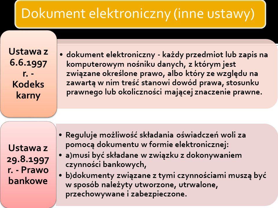 Dokument elektroniczny Możemy przykładowo wyróżnić następujące nośniki do zapisu dokumentów (przeważnie analogowych), których liczba jest znaczna: pap