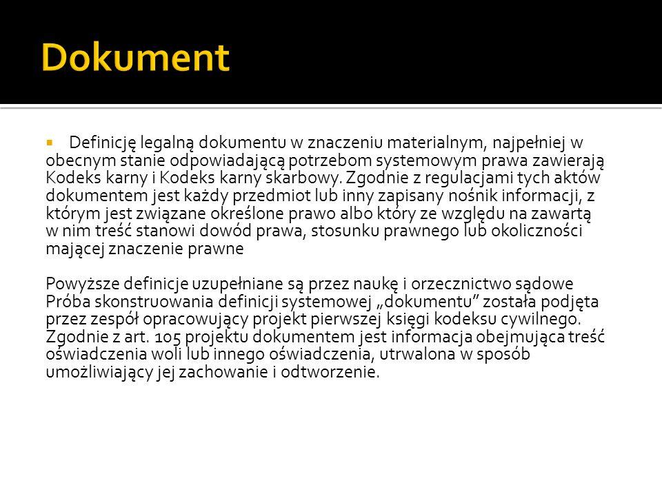 Dokument rozporządzenie 1049/2001UE UE zdefiniowano dokument jako