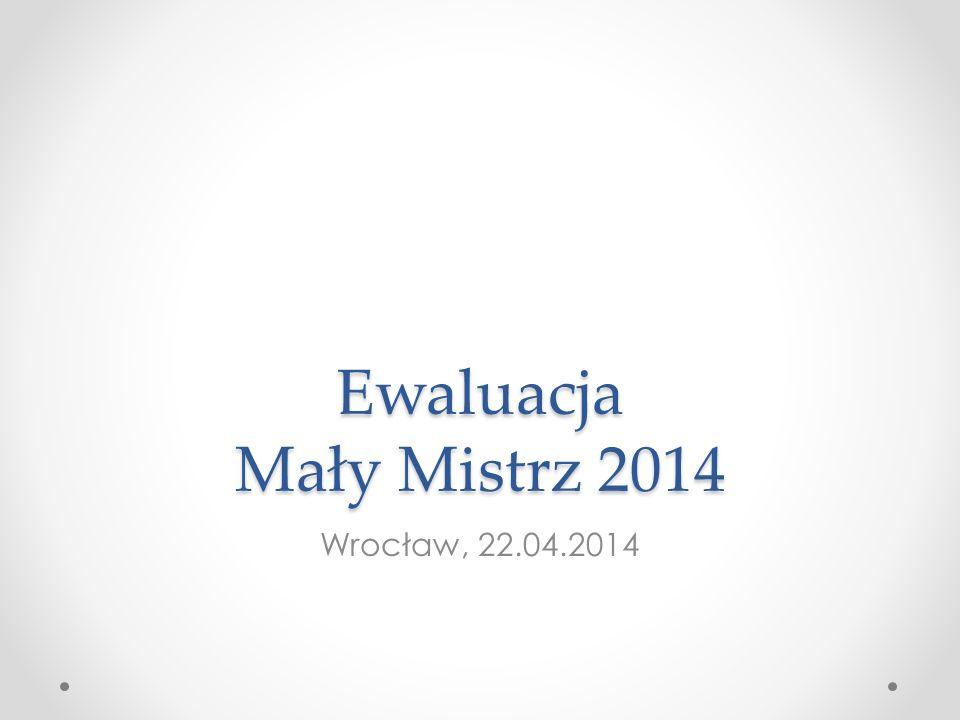Ewaluacja Mały Mistrz 2014 Wrocław, 22.04.2014