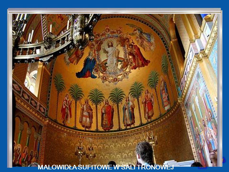 Ten luksusowy pokój, który daje poczucie świętości, to sala tronowa Widać gdzie powinien być umieszczony tron, co nie nastąpiło do śmierci króla