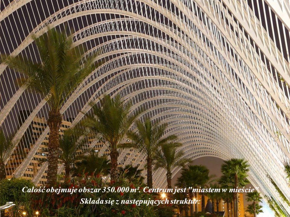 Na całość kompleksu składają się: centrum kulturalne i rozrywkowe awangardowe budynki. Mieści się tu największe na świecie oceanarium a także delfinar