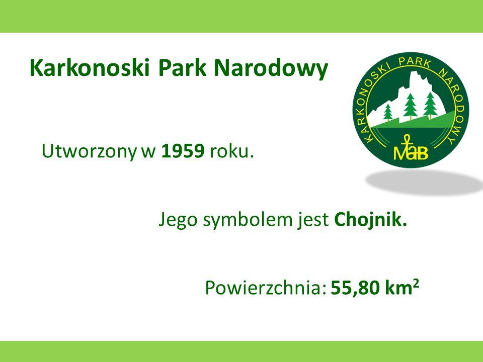 Kampinoski Park Narodowy Utworzony w 1959 roku. Jego symbolem jest łoś. Powierzchnia: 385,44 km 2