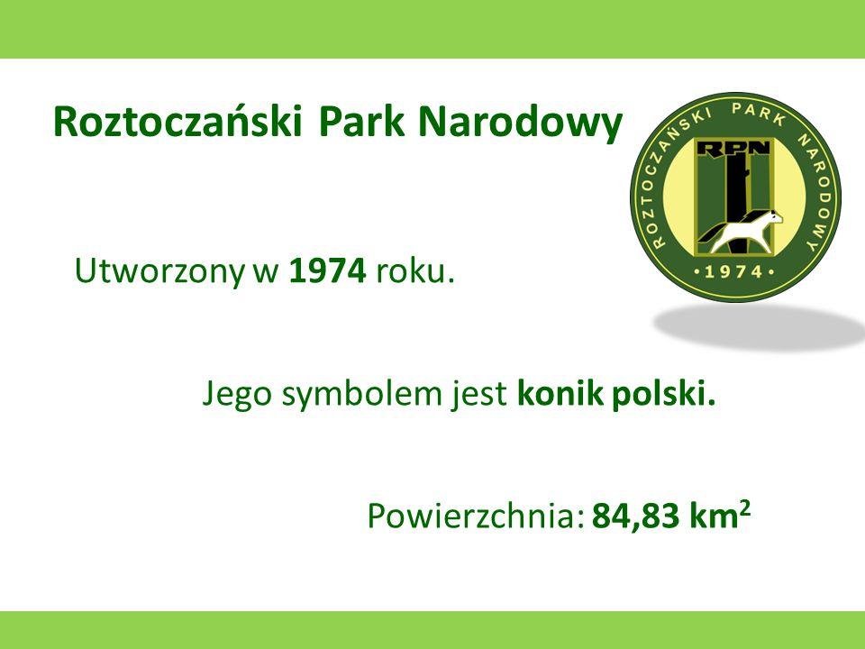 Poleski Park Narodowy Utworzony w 1954 roku. Jego symbolem jest żuraw. Powierzchnia: 97,62 km 2