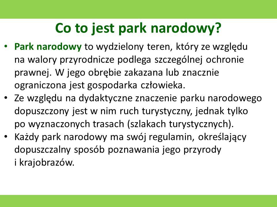 Tatrzański Park Narodowy Utworzony w 1954 roku.Jego symbolem jest kozica.