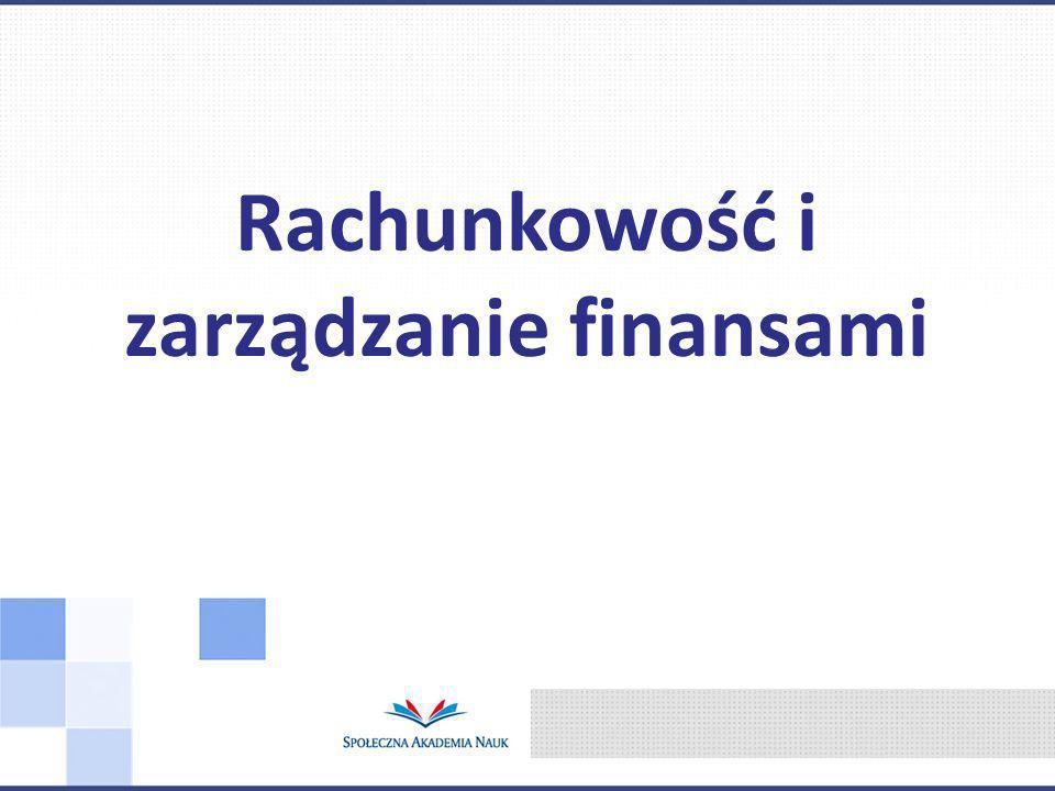 Rachunkowość i zarządzanie finansami