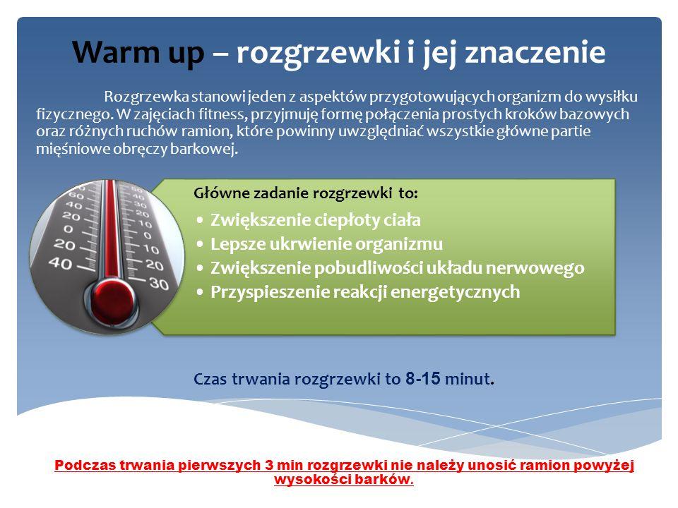Warm up – rozgrzewki i jej znaczenie Rozgrzewka stanowi jeden z aspektów przygotowujących organizm do wysiłku fizycznego.