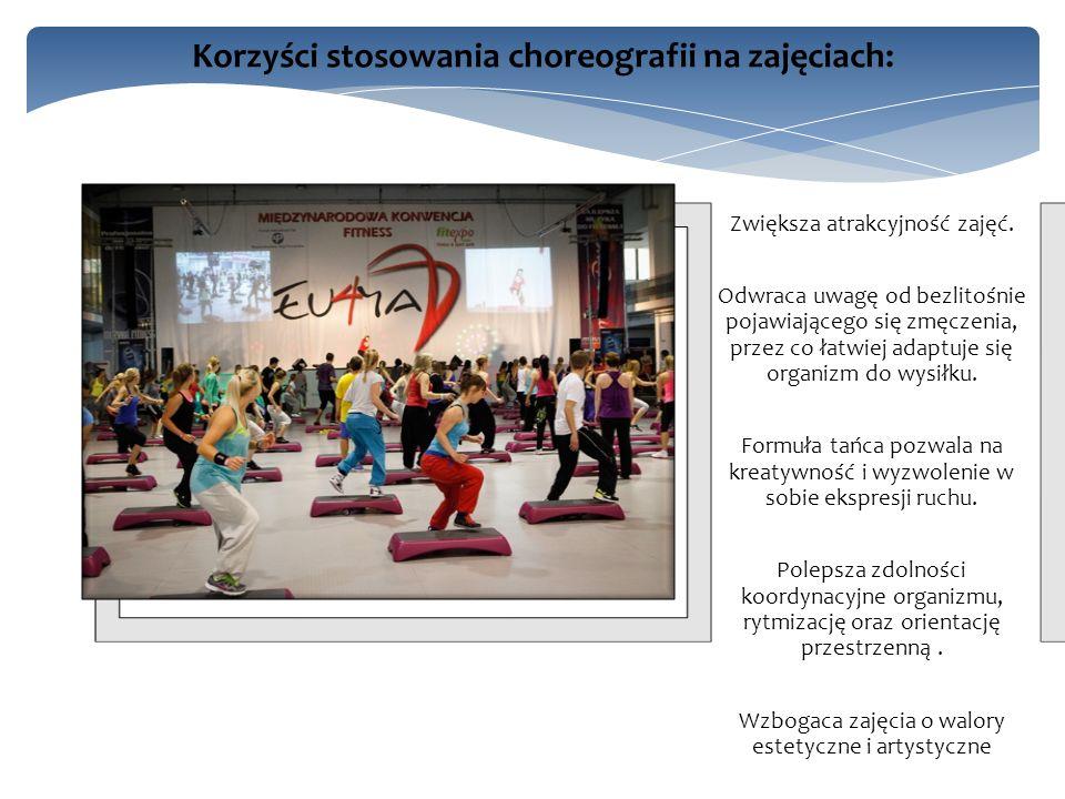 Choreografia powinna tworzyć zamkniętą całość, czyli powinna składać się z sekwencji kroków mieszczących się w blokach muzycznych a początkiem i końcem.