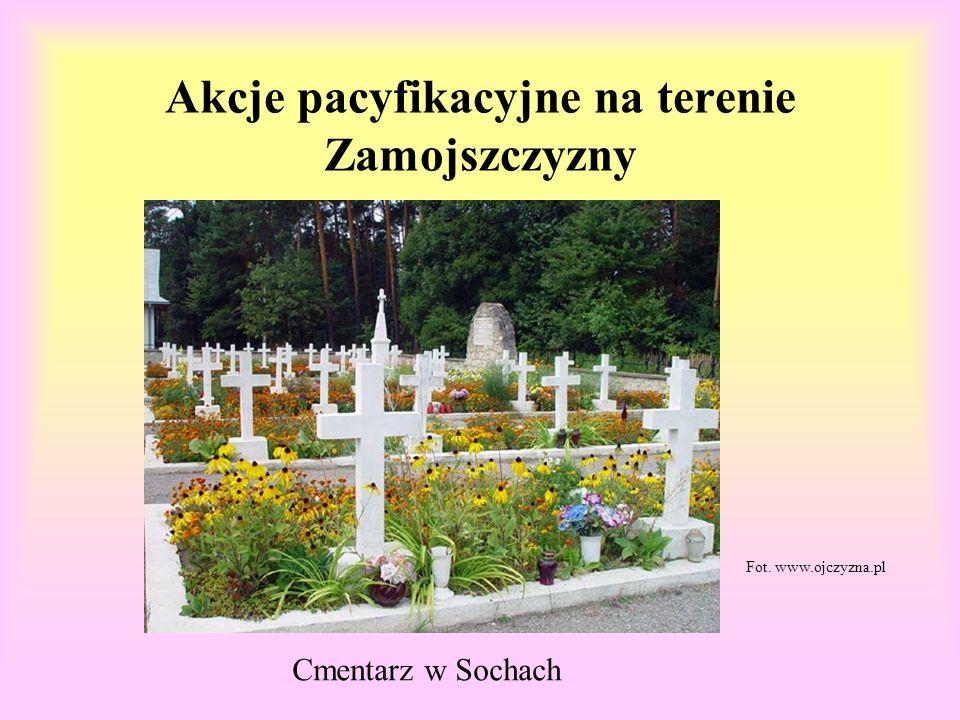 Akcje pacyfikacyjne na terenie Zamojszczyzny Cmentarz w Sochach Fot. www.ojczyzna.pl